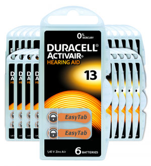 Piles auditives 13 - Duracell - Lot de 120 piles