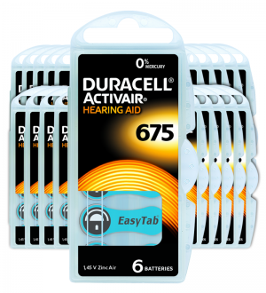 Piles auditives 675 - Duracell - Lot de 120 piles