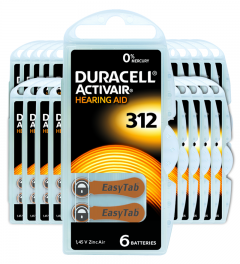 Piles auditives 312 - Duracell - Lot de 120 piles