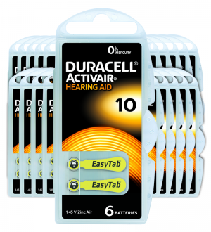 Piles auditives 10 - Duracell - Lot de 120 piles