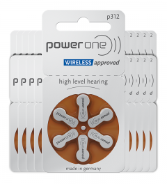 Piles auditives 312 - Power One - Lot de 120 piles